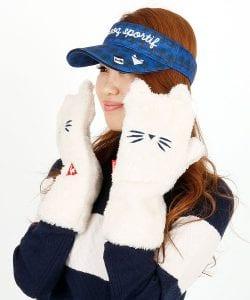 ルコックゴルフミトン手袋