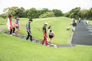 ゴルフ場の練習場