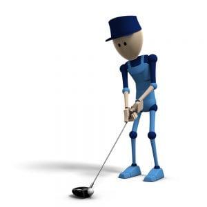 ゴルフセットアップ